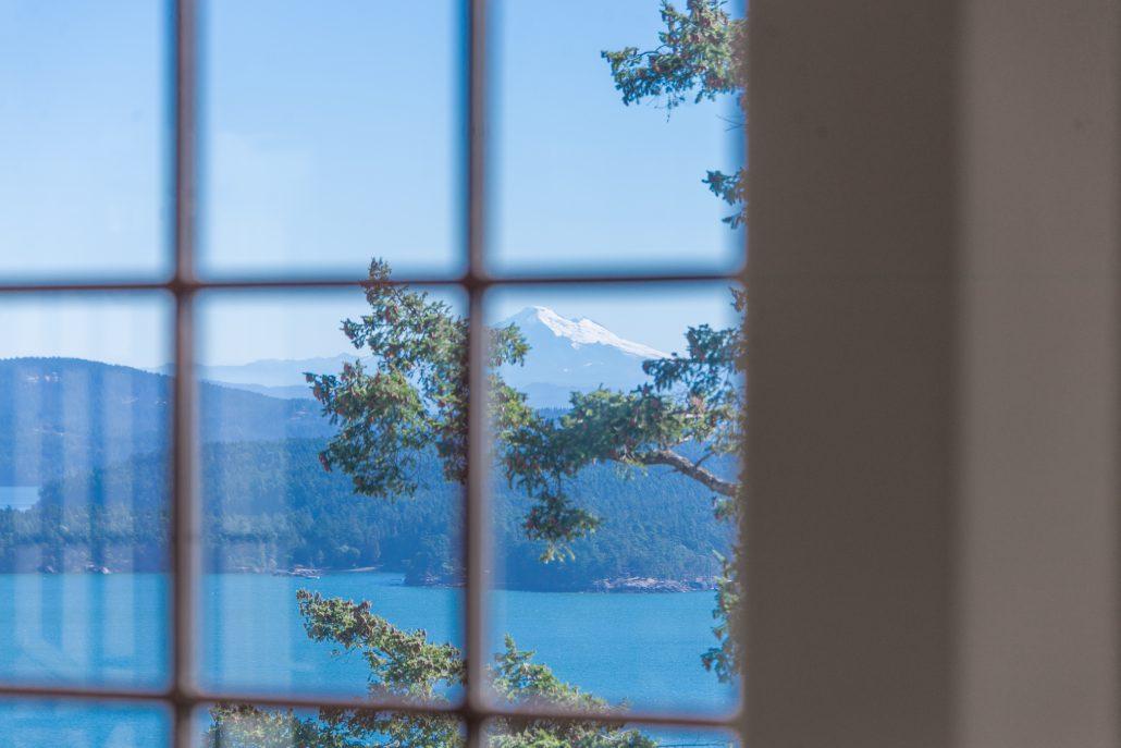 View of Mount Baker, The Breakfast Nook, San Juan Island, Washington